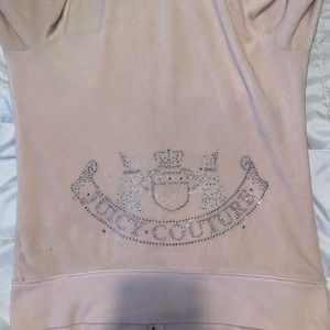 light pink juicy couture tracksuit zip up